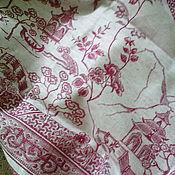 Для дома и интерьера handmade. Livemaster - original item linen tablecloth jacquard with a Chinese pattern. Handmade.