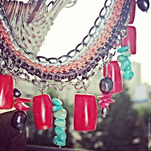 """Колье, бусы ручной работы. Ярмарка Мастеров - ручная работа. Купить Ожерелье """"Страстные кораллы"""". Handmade. Ожерелье, шелк, кораллы"""