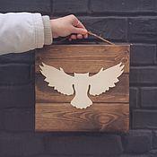 Картины и панно handmade. Livemaster - original item Panel made of solid wood with the silhouette of any bird. Handmade.