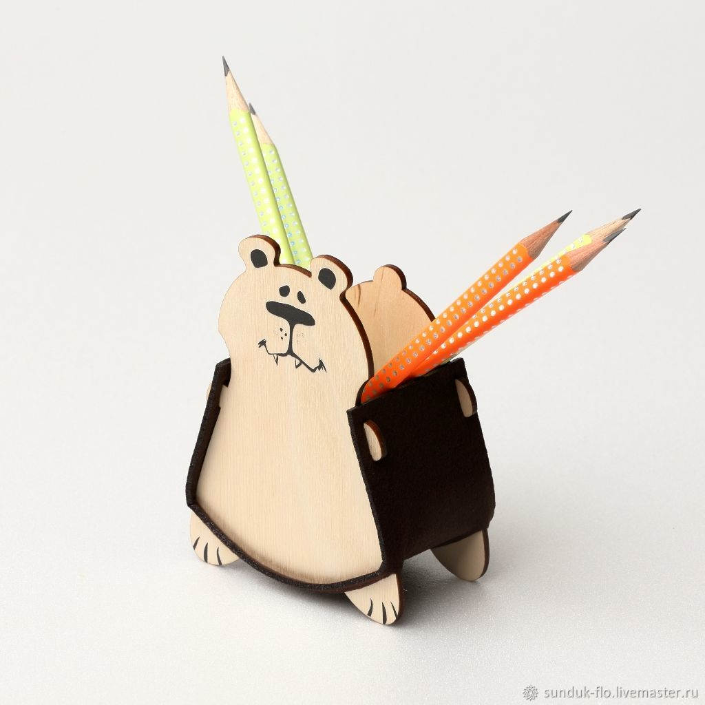 Desktop pencil holder Bear