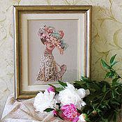 """Картины и панно ручной работы. Ярмарка Мастеров - ручная работа Вышитая картина """"Викторианская элегантность"""". Handmade."""