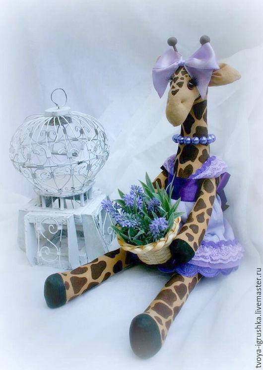 Ароматизированные куклы ручной работы. Ярмарка Мастеров - ручная работа. Купить Жирафка Лаура. Handmade. Лаванда, кофейная игрушка