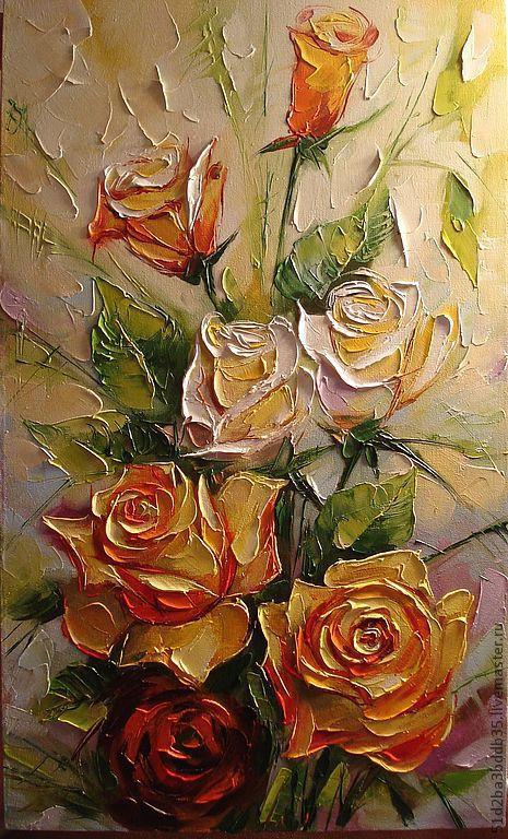 Картины цветов ручной работы. Ярмарка Мастеров - ручная работа. Купить Розовый букет. Handmade. Розовый, картина, картина в подарок