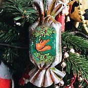 Сувениры и подарки handmade. Livemaster - original item Sweets on a Christmas tree in retro style. Handmade.