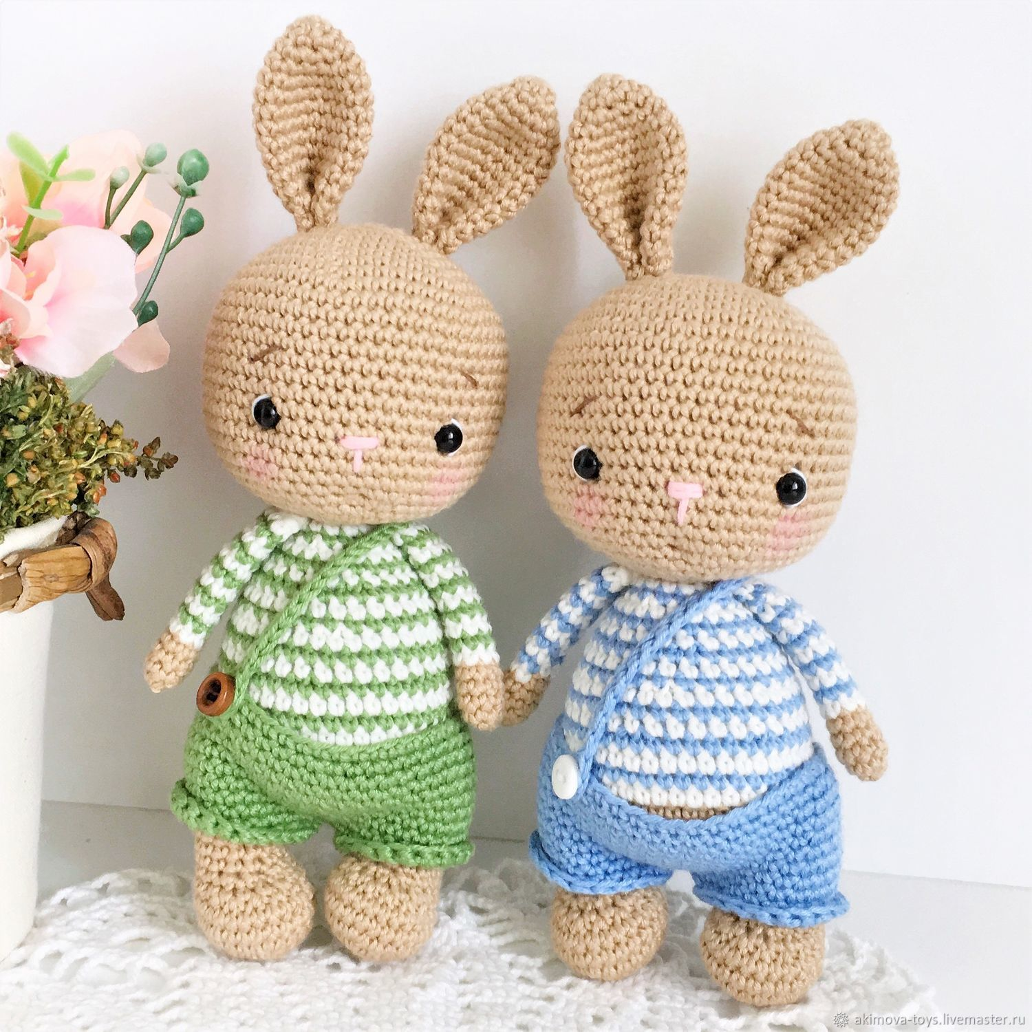 Bunny. knitted toy, Stuffed Toys, Stupino,  Фото №1