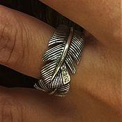 Украшения handmade. Livemaster - original item feather ring with stones. Handmade.