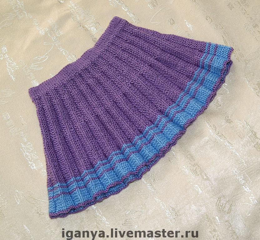 Вязаная юбка для женщины