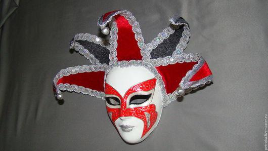 Интерьерные  маски ручной работы. Ярмарка Мастеров - ручная работа. Купить Арлекин(маска-декор). Handmade. Комбинированный, Гипсовая заготовка, лак