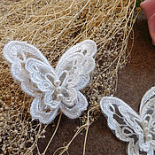Материалы для творчества handmade. Livemaster - original item Mouth-watering 3D applique organza Butterflies. Handmade.