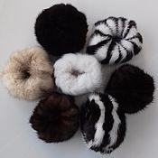 Украшения handmade. Livemaster - original item Hair bands made of mink fur. Handmade.