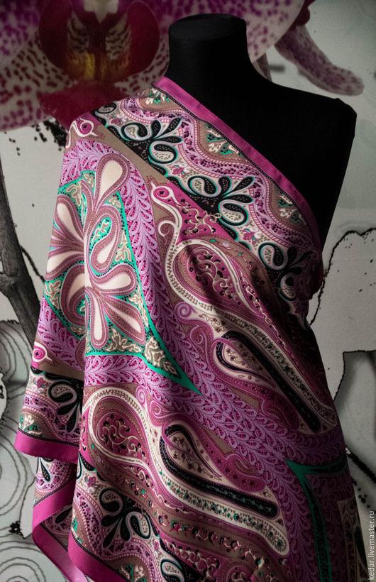 """Шали, палантины ручной работы. Ярмарка Мастеров - ручная работа. Купить Палантин женский ETRO  """"Indian Color"""". Мультиколор. Handmade."""