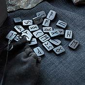 Фен-шуй и эзотерика handmade. Livemaster - original item Runes from the black hornbeam. Handmade.