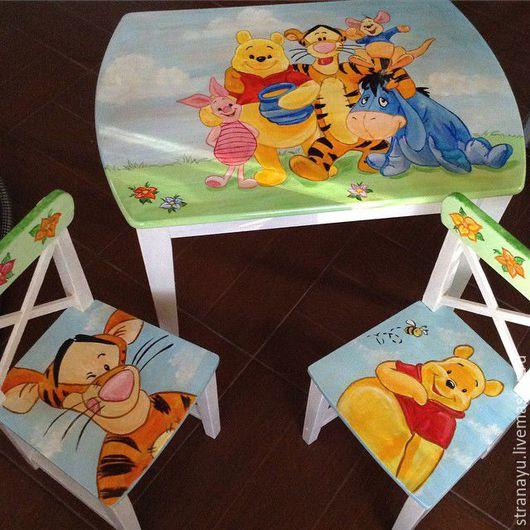 Детская ручной работы. Ярмарка Мастеров - ручная работа. Купить Роспись детской мебели. Handmade. Комбинированный, столик, стол