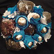 Подарки к праздникам ручной работы. Ярмарка Мастеров - ручная работа Букет Конфет и Чая. Handmade.