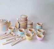 Куклы и игрушки ручной работы. Ярмарка Мастеров - ручная работа Кукольная посуда. Большой набор. Handmade.