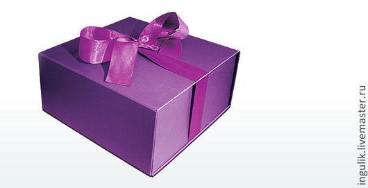 Упаковка ручной работы. Ярмарка Мастеров - ручная работа. Купить Подарочная коробка  с лентой большая упаковка. Handmade. Белый