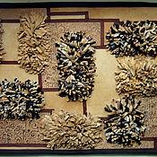 Для дома и интерьера ручной работы. Ярмарка Мастеров - ручная работа Кожаный коврик, натуральная кожа. Handmade.