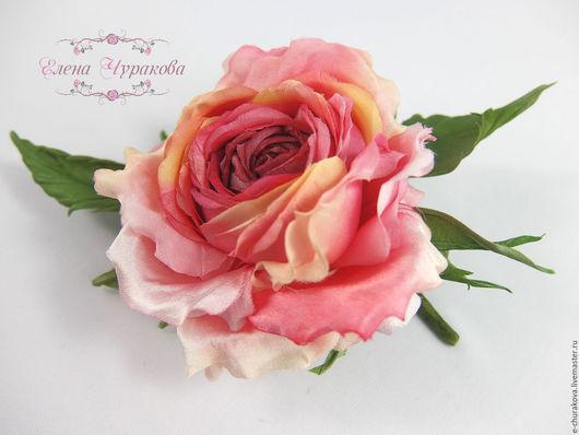 """Цветы ручной работы. Ярмарка Мастеров - ручная работа. Купить Цветы из шелка. Цветы из ткани. Роза """"Аврора"""". Handmade."""