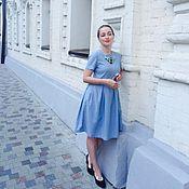 Одежда ручной работы. Ярмарка Мастеров - ручная работа Шерстяное платье с коротким рукавом. Handmade.
