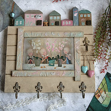 For home and interior handmade. Livemaster - original item The housekeeper Tenderness of angels and orchids . The housekeeper decoupage. Handmade.