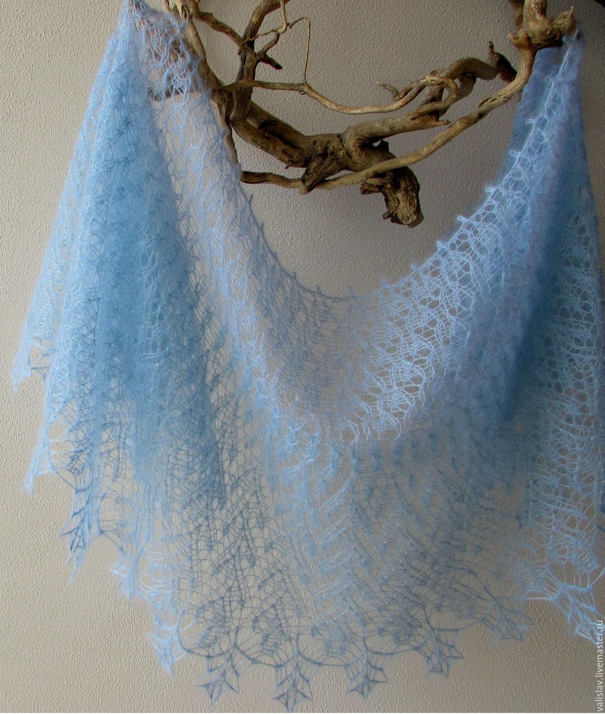 Вязание шалей из мохера