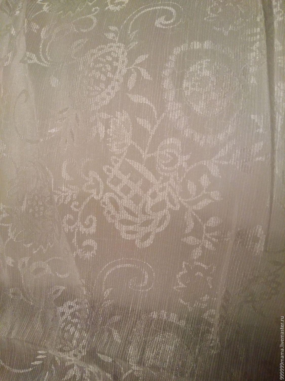"Жаккард лен+шелк ""Мелкие цветочки"", Ткань, Санкт-Петербург, Фото №1"
