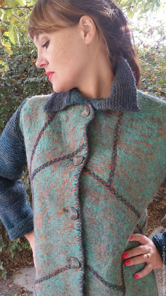 """Верхняя одежда ручной работы. Ярмарка Мастеров - ручная работа. Купить Пальто Войлок """"Любимое"""". Handmade. Мокрое валяние"""
