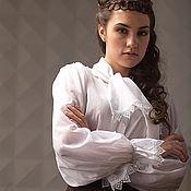 Одежда handmade. Livemaster - original item Blouse made of thin cotton Victorian. Handmade.