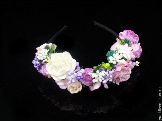 Карнавальные костюмы ручной работы. Ярмарка Мастеров - ручная работа. Купить Ободок для феи. Handmade. Ободок, ободок с розами, цветы