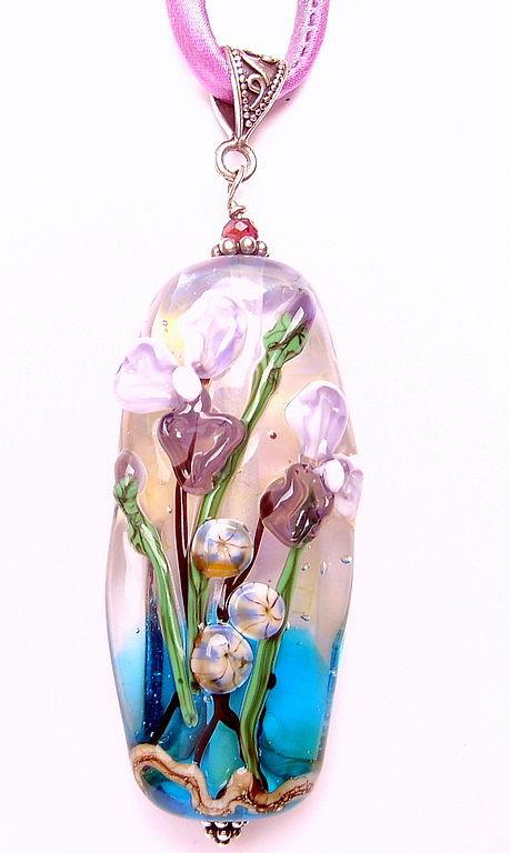 Pendant 'Iris' lampwork, Pendants, St. Petersburg,  Фото №1