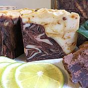 Косметика ручной работы handmade. Livemaster - original item Chocolate. Lime. Cinnamon. Turmeric. ANTICIPATION Luxury natural soap.. Handmade.