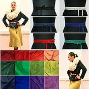 Аксессуары ручной работы. Ярмарка Мастеров - ручная работа Пояса ленты из натуральной замши. Handmade.