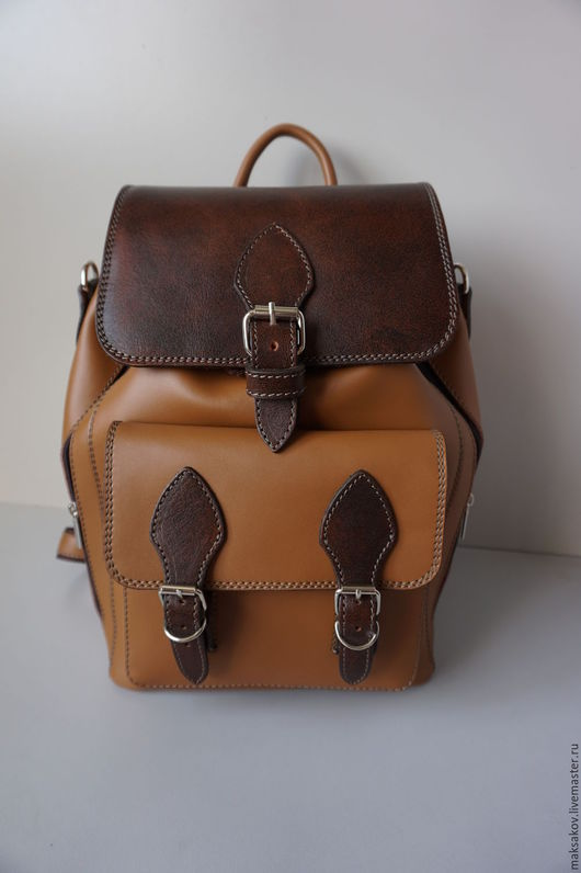 Рюкзаки ручной работы. Ярмарка Мастеров - ручная работа. Купить Рюкзак 36 см. Handmade. Светлый рюкзак, натуральная замша