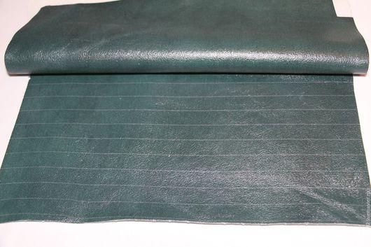 Шитье ручной работы. Ярмарка Мастеров - ручная работа. Купить кожа в кусках (т.-зеленая). Handmade. Натуральная кожа, кожа