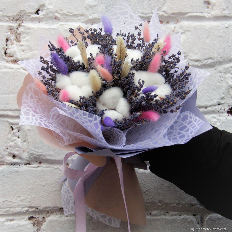 Букет из лаванды и сухоцветов в ярких тонах, Букеты, Москва,  Фото №1