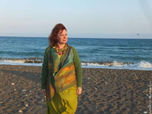 Кофты и свитера ручной работы. Ярмарка Мастеров - ручная работа. Купить Восход солнца. Handmade. Зеленый, модная одежда