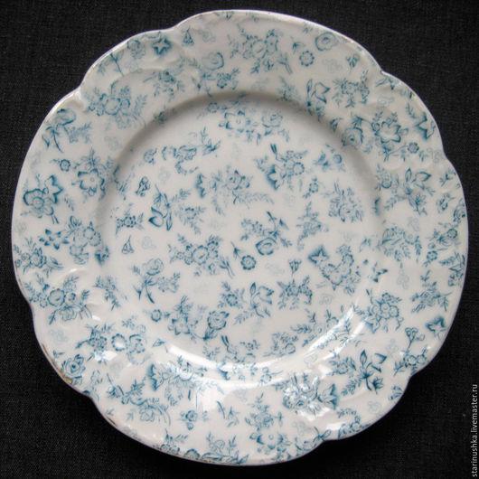 Винтажная посуда. Ярмарка Мастеров - ручная работа. Купить 19 век. Милая антикварная тарелка.. Handmade. Антиквариат, фарфор, антикварное