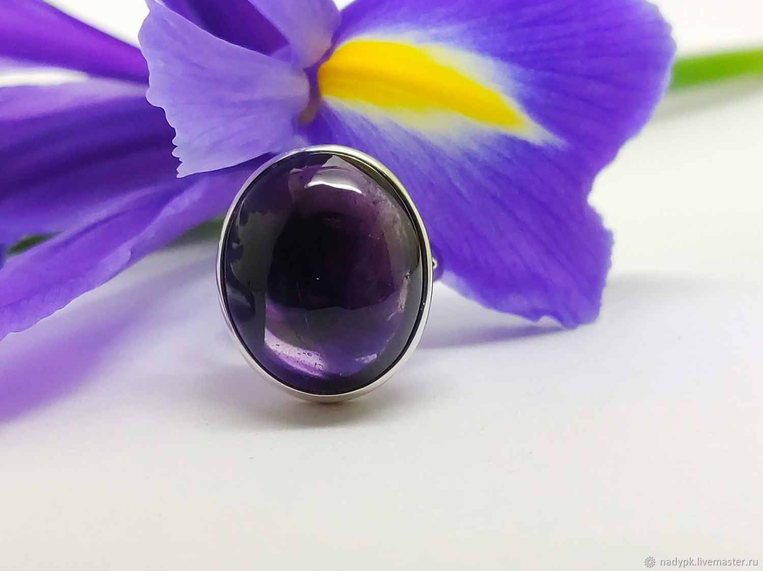 Ring with amethyst 'Night violet', silver, Rings, Moscow,  Фото №1