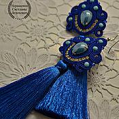 Украшения ручной работы. Ярмарка Мастеров - ручная работа №354 Серьги кисти василькового цвета. Handmade.