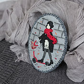 Украшения ручной работы. Ярмарка Мастеров - ручная работа Листопад. Брошь текстильная с вышивкой. Handmade.