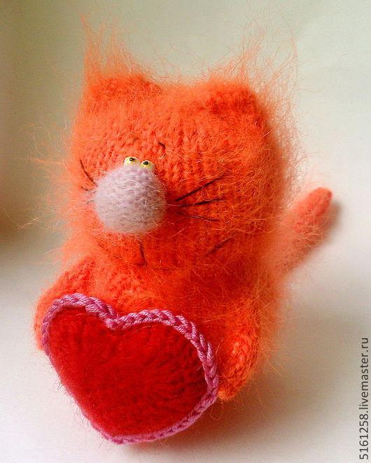 """Миниатюра ручной работы. Ярмарка Мастеров - ручная работа. Купить Рыжий кот """"Валентин"""" ( Мягкие игрушки, амигуруми, коты вязаные). Handmade."""