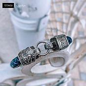 Украшения handmade. Livemaster - original item Sagittarius Leather Bracelet   Silver. Handmade.