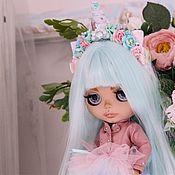 Кастом ручной работы. Ярмарка Мастеров - ручная работа Кукла Блайз (Blythe) единорог с мятными волосами. Handmade.