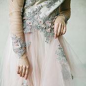 """Одежда ручной работы. Ярмарка Мастеров - ручная работа Платье от кутюр """"Серо-розовое"""". Handmade."""