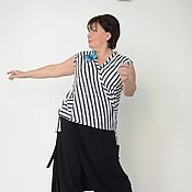 Одежда handmade. Livemaster - original item The sleeveless blouse with the smell of