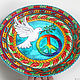 Order Decorative plate 'a Symbol of Love and Peace' hand-painted. Art by Tanya Shest. Livemaster. . Plates Фото №3