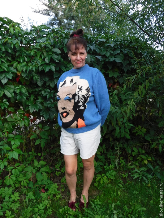 """Кофты и свитера ручной работы. Ярмарка Мастеров - ручная работа. Купить Вязаный свитер """"Мэрилин"""". Handmade. Свитер, подарок девушке"""