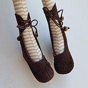 Куклы и игрушки ручной работы. Ярмарка Мастеров - ручная работа Обувь для кукол в стиле Тильда. Handmade.
