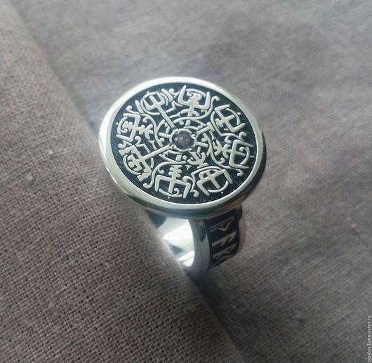 """Кольца ручной работы. Ярмарка Мастеров - ручная работа. Купить Кольцо """"Вегвизир 2"""". Handmade. Вегвизир, руны, футарк"""