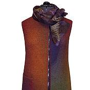 """Одежда ручной работы. Ярмарка Мастеров - ручная работа Валяный жилет """"Осенний блюз"""" нуновойлок. Handmade."""